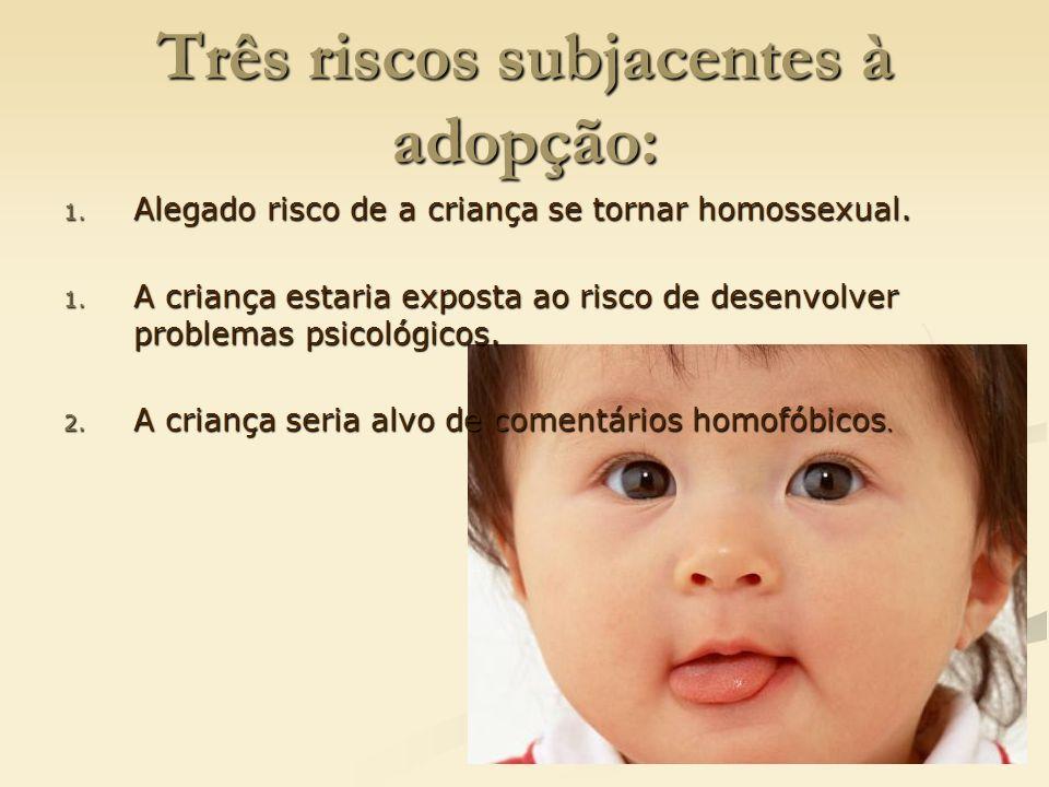 Três riscos subjacentes à adopção:
