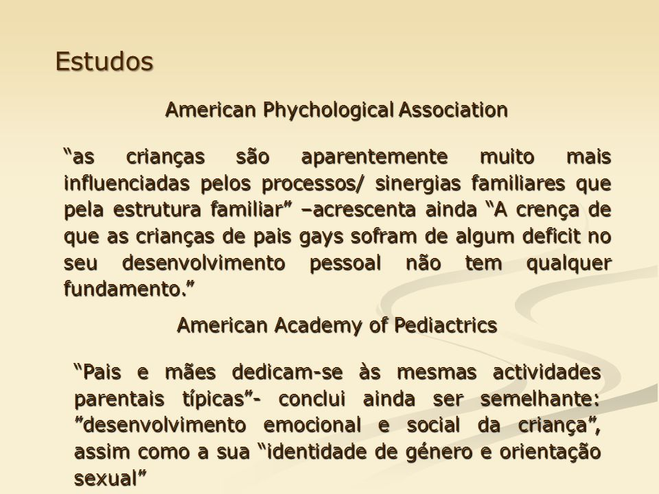 Estudos American Phychological Association