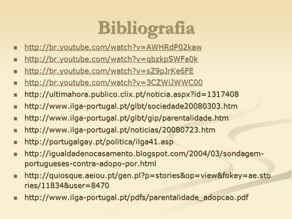 Bibliografia http://br.youtube.com/watch v=AWHRdP02kaw