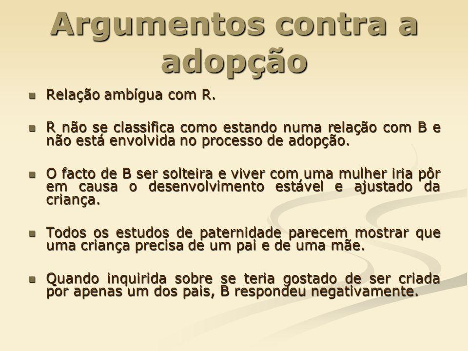 Argumentos contra a adopção
