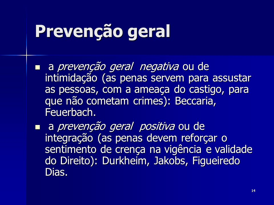 Prevenção geral