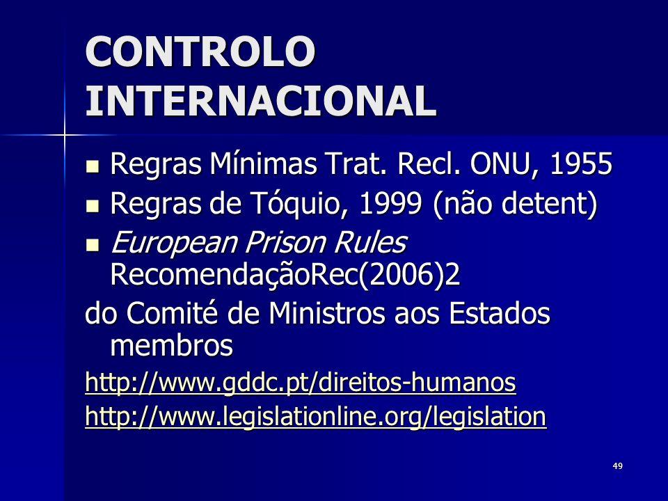 CONTROLO INTERNACIONAL