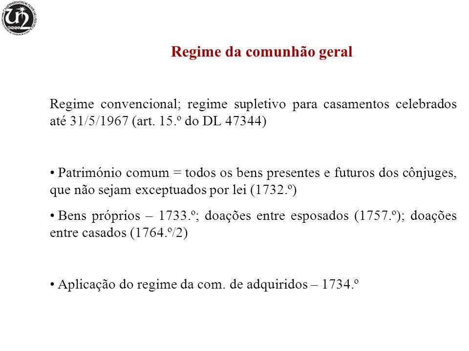 Regime da comunhão geral