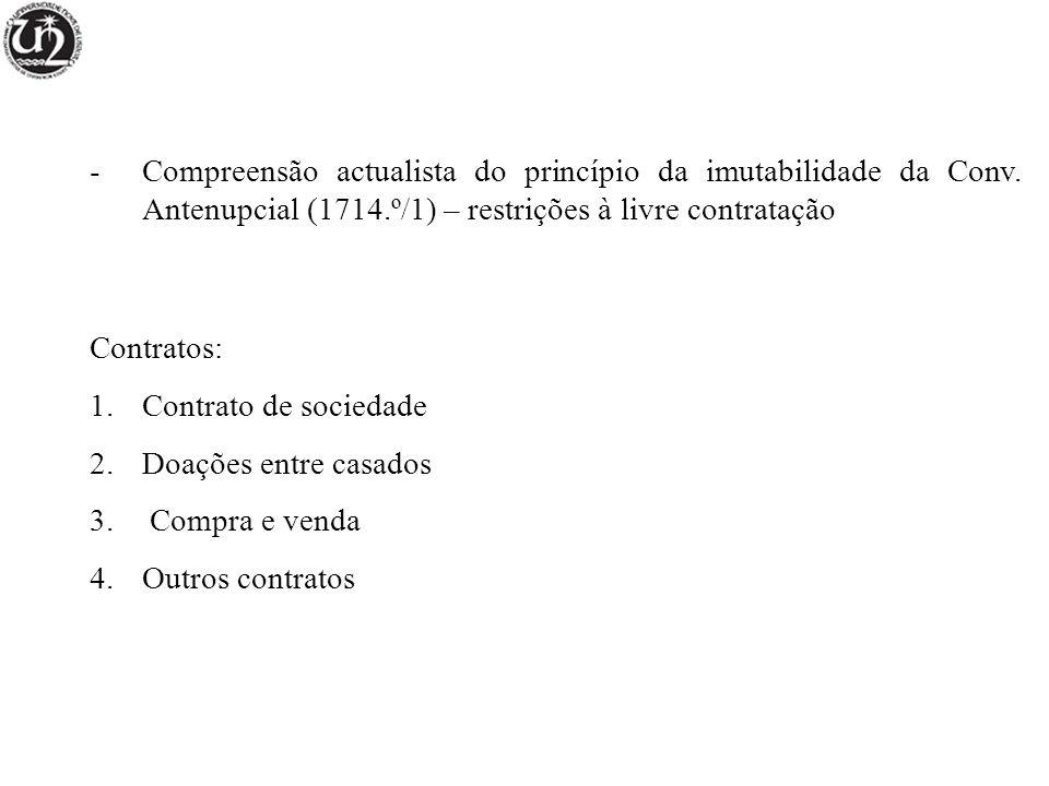 Compreensão actualista do princípio da imutabilidade da Conv