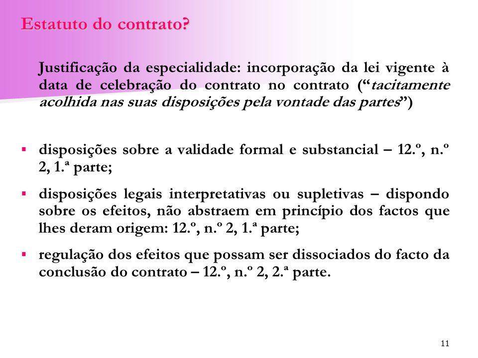 Estatuto do contrato