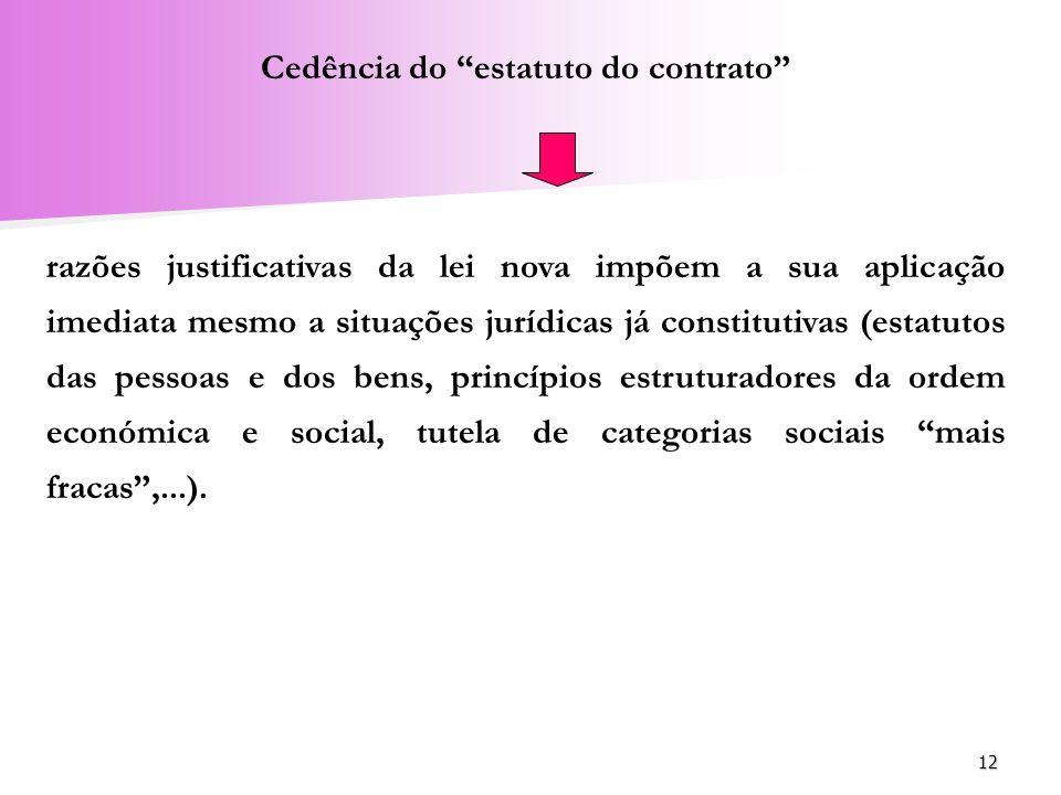 Cedência do estatuto do contrato