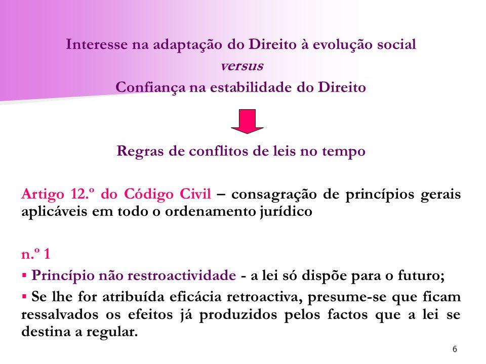 Interesse na adaptação do Direito à evolução social versus
