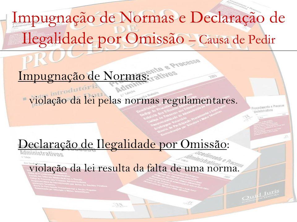 Impugnação de Normas e Declaração de Ilegalidade por Omissão – Causa de Pedir
