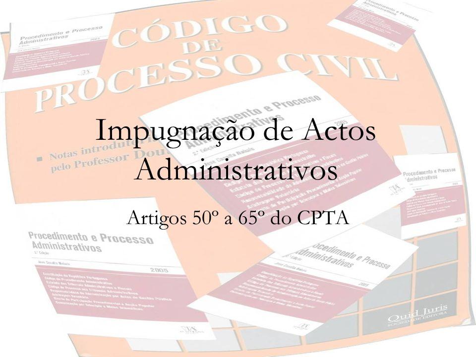 Impugnação de Actos Administrativos