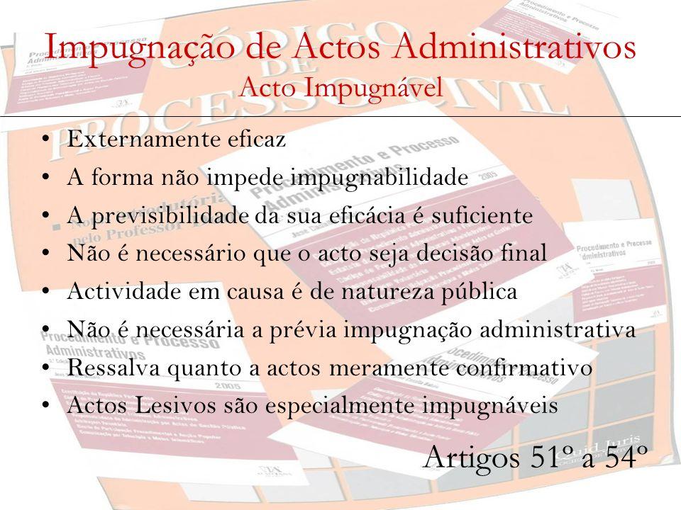 Impugnação de Actos Administrativos Acto Impugnável