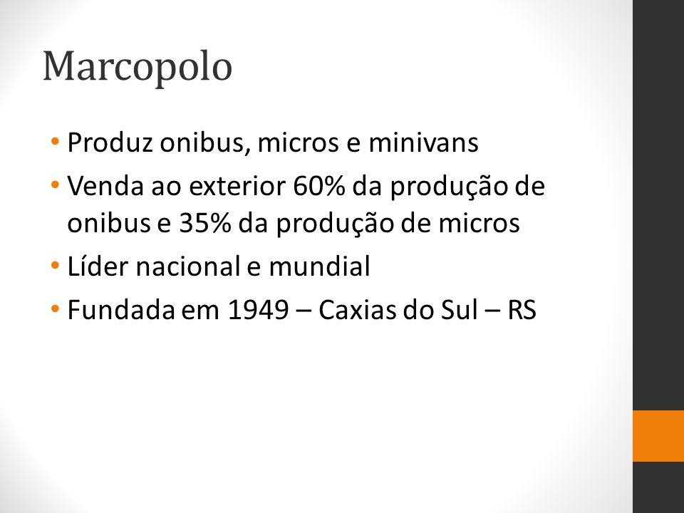 Marcopolo Produz onibus, micros e minivans