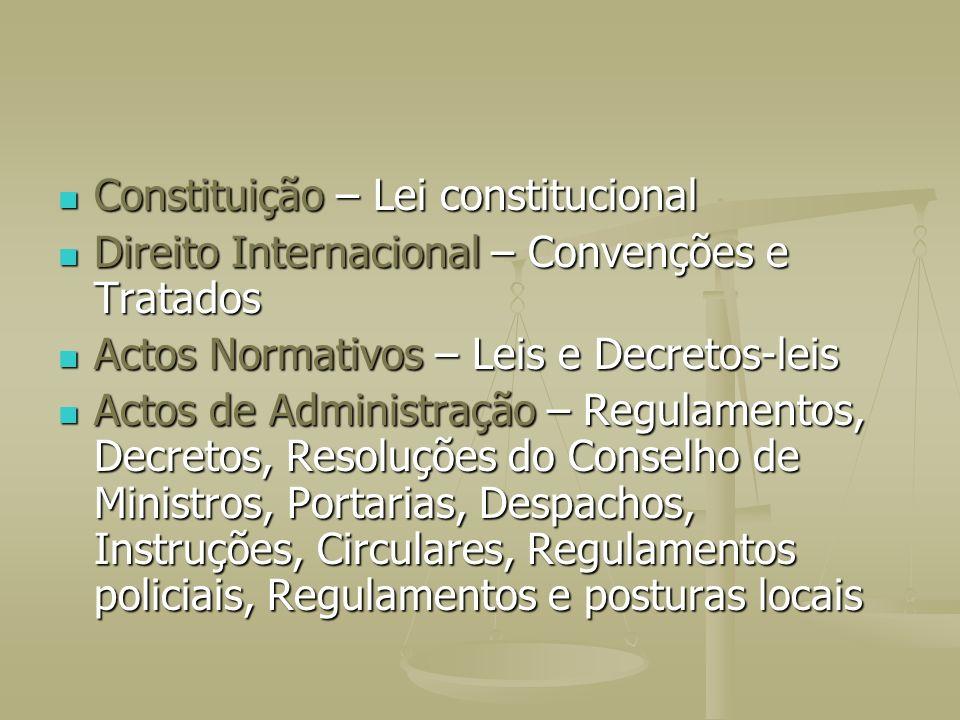 Constituição – Lei constitucional