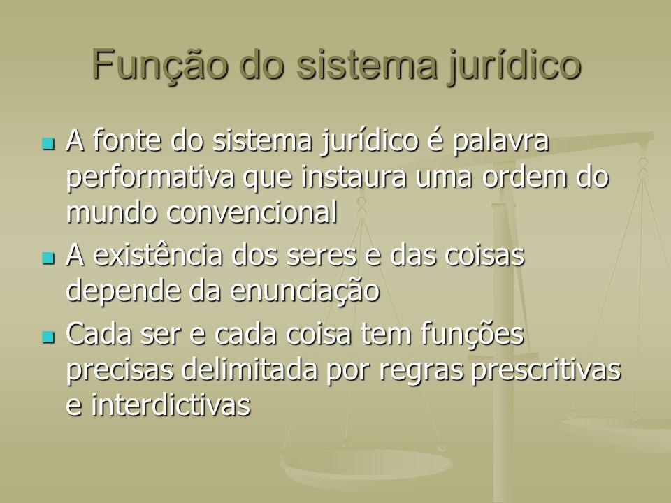 Função do sistema jurídico