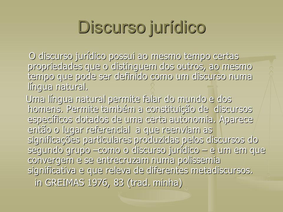 Discurso jurídico