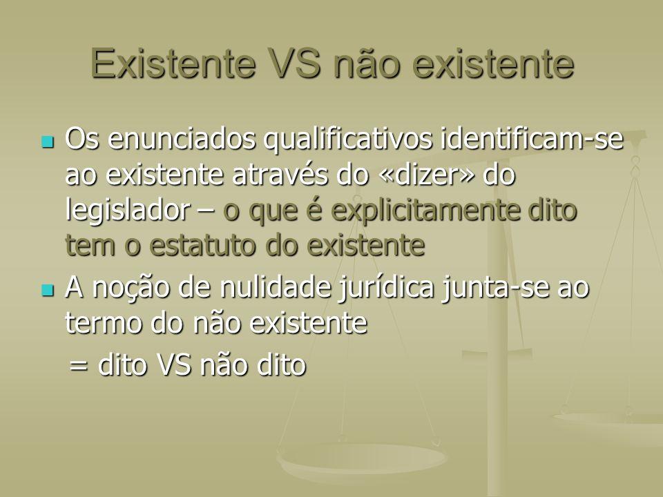 Existente VS não existente