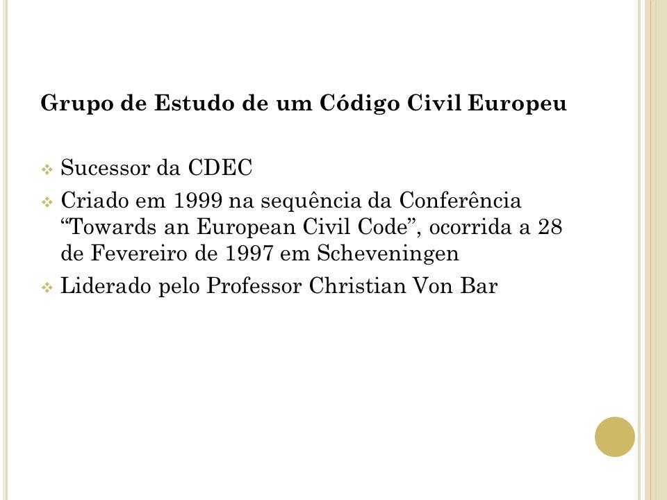 Grupo de Estudo de um Código Civil Europeu
