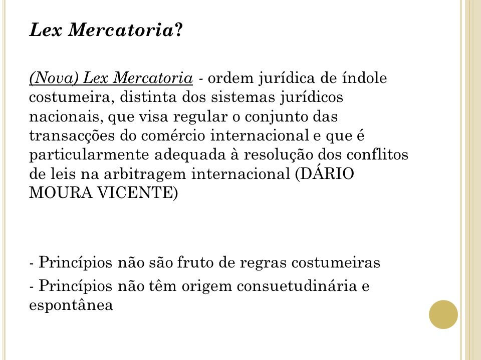 Lex Mercatoria