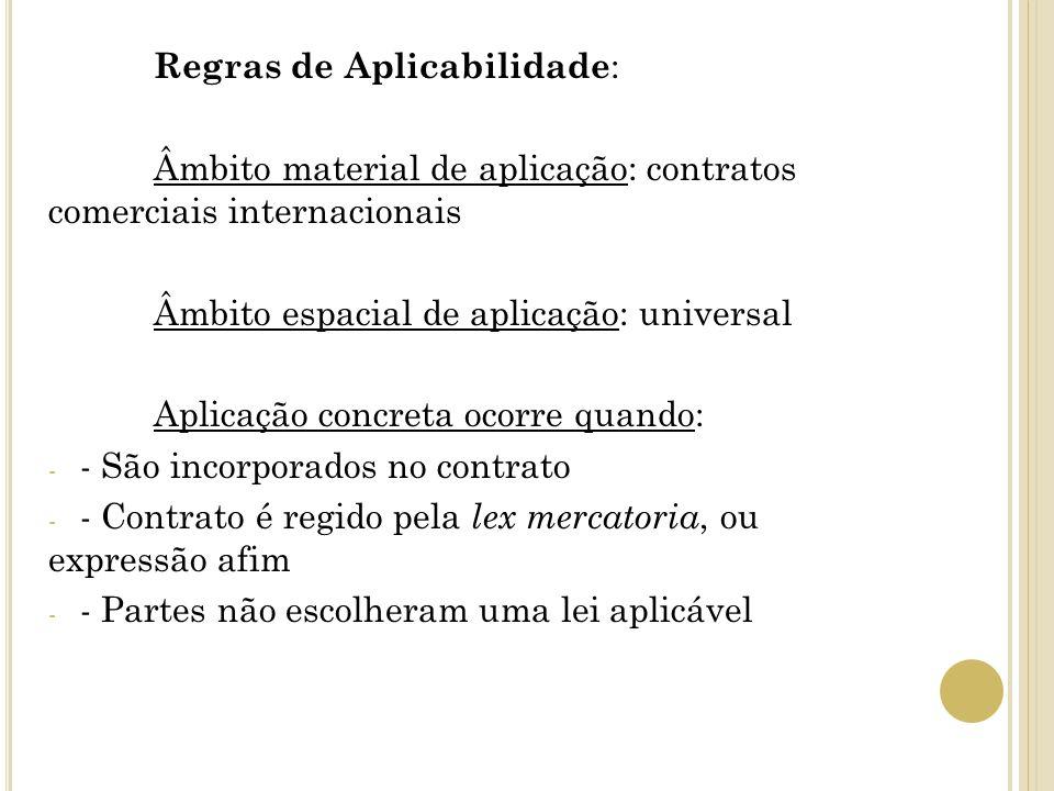 Regras de Aplicabilidade:
