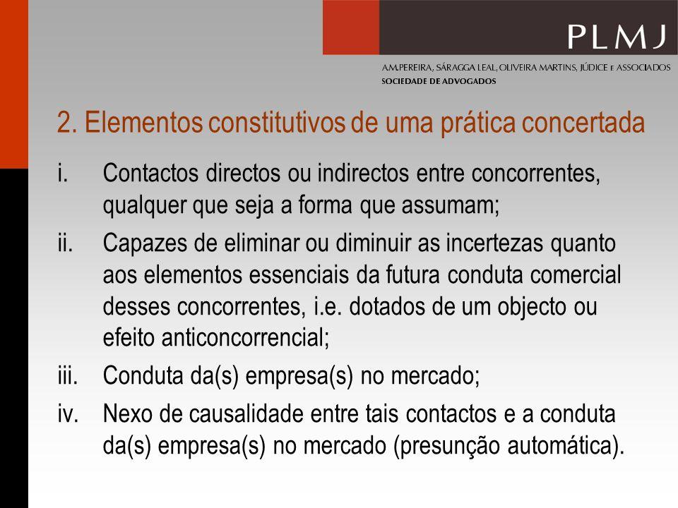 2. Elementos constitutivos de uma prática concertada