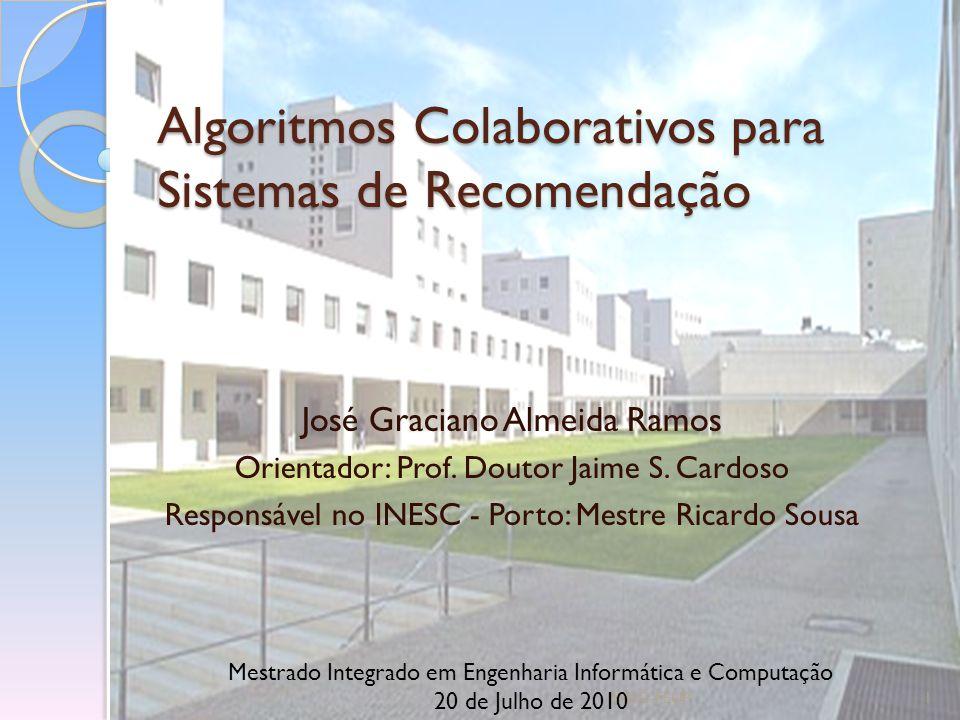Algoritmos Colaborativos para Sistemas de Recomendação