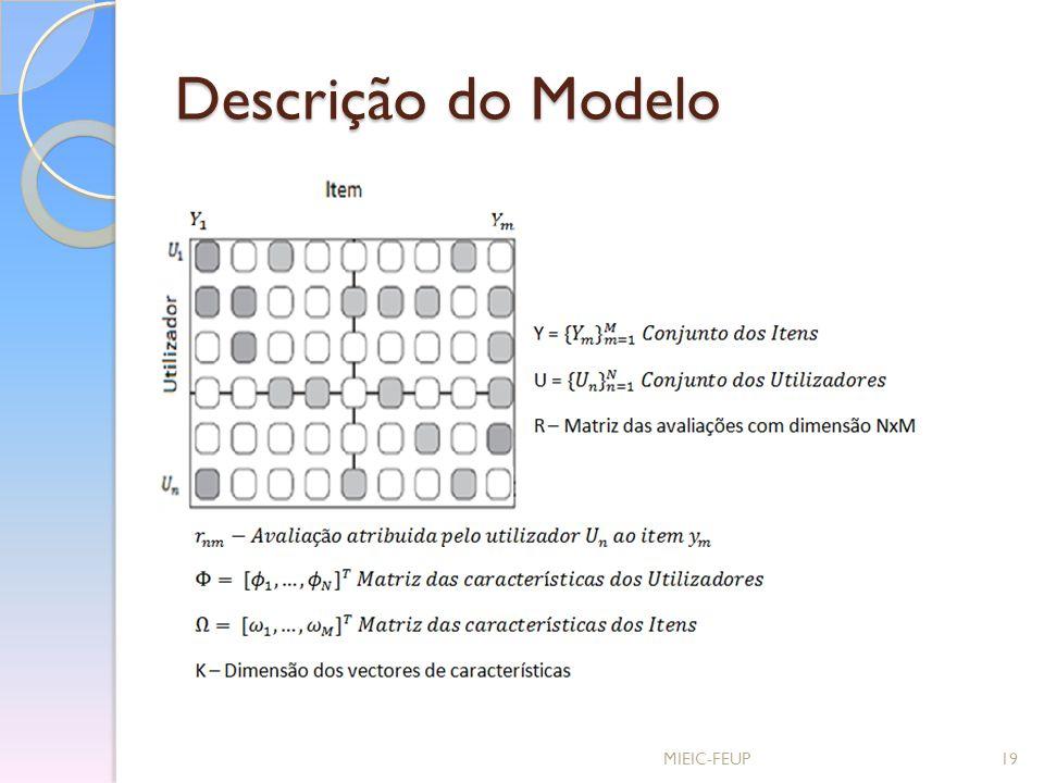 Descrição do Modelo MIEIC-FEUP