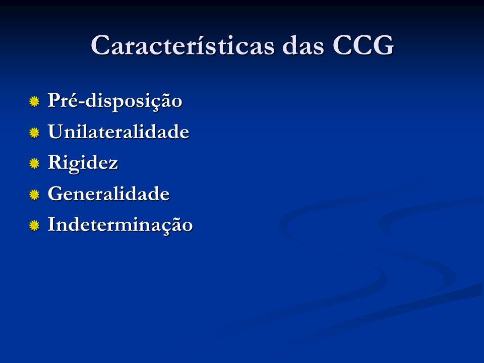 Características das CCG