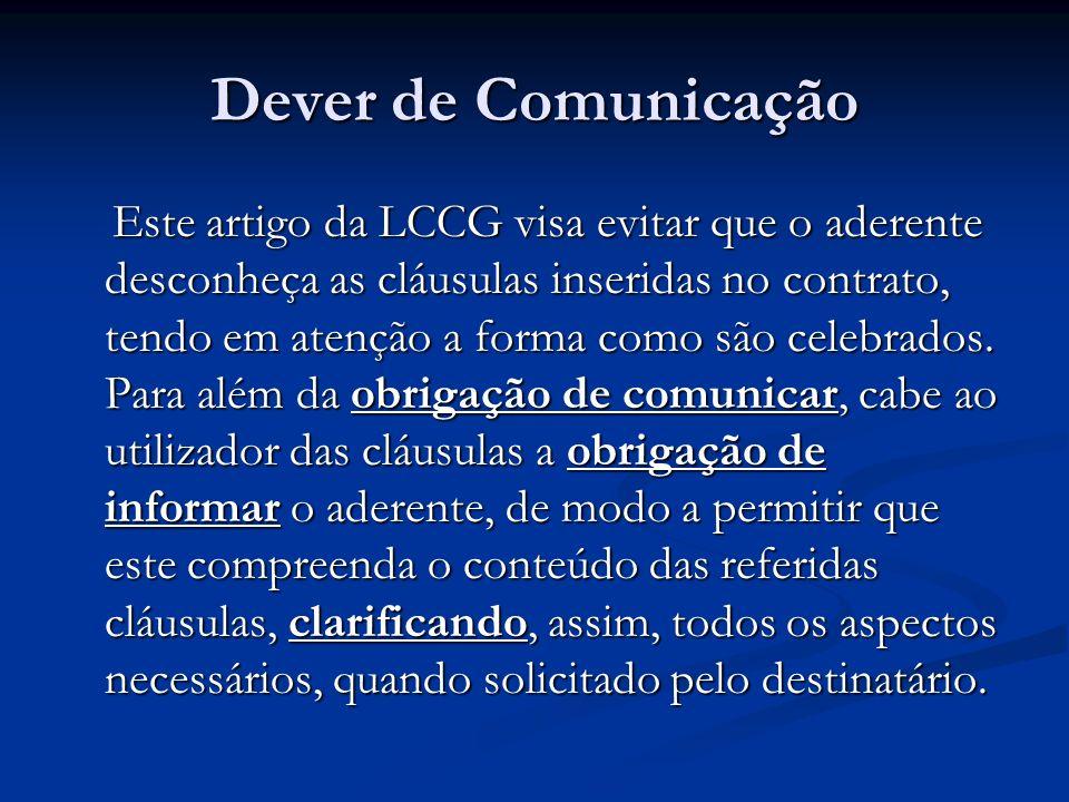 Dever de Comunicação
