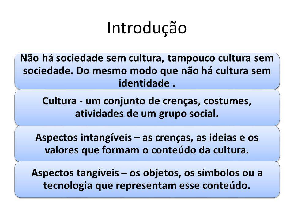 Introdução Não há sociedade sem cultura, tampouco cultura sem sociedade. Do mesmo modo que não há cultura sem identidade .