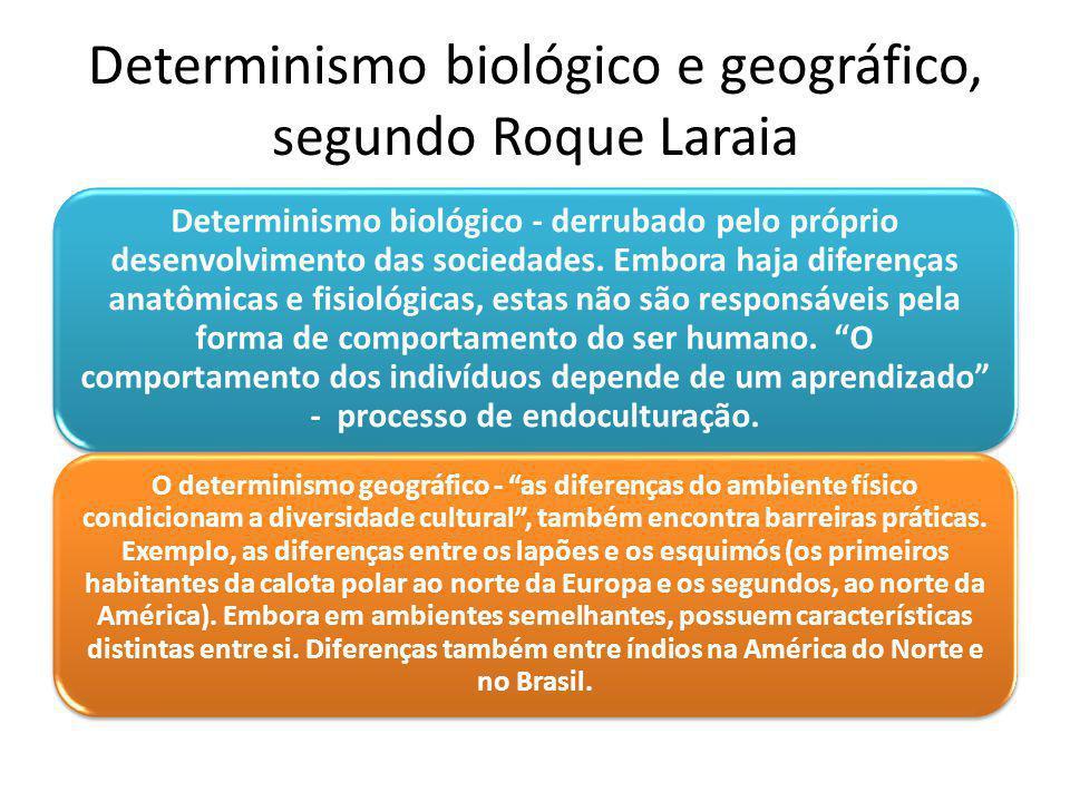 Determinismo biológico e geográfico, segundo Roque Laraia