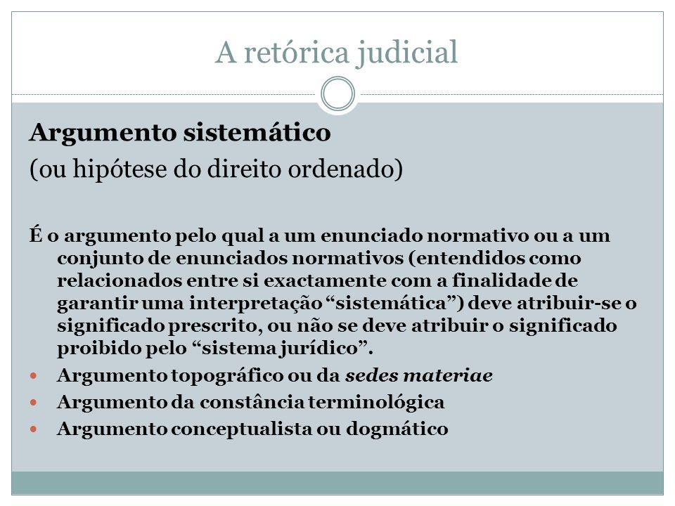 A retórica judicial Argumento sistemático