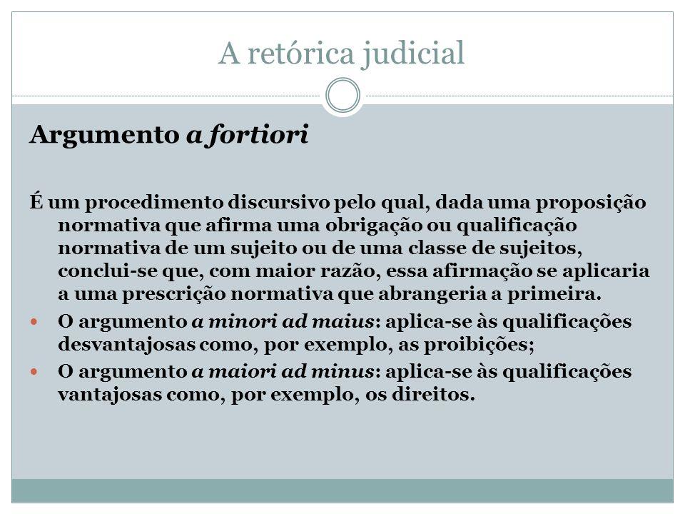A retórica judicial Argumento a fortiori