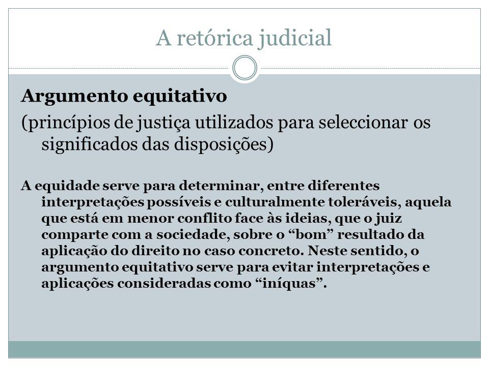 A retórica judicial Argumento equitativo