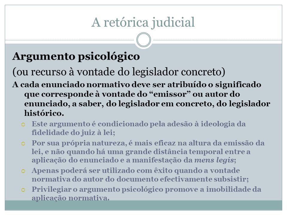 A retórica judicial Argumento psicológico