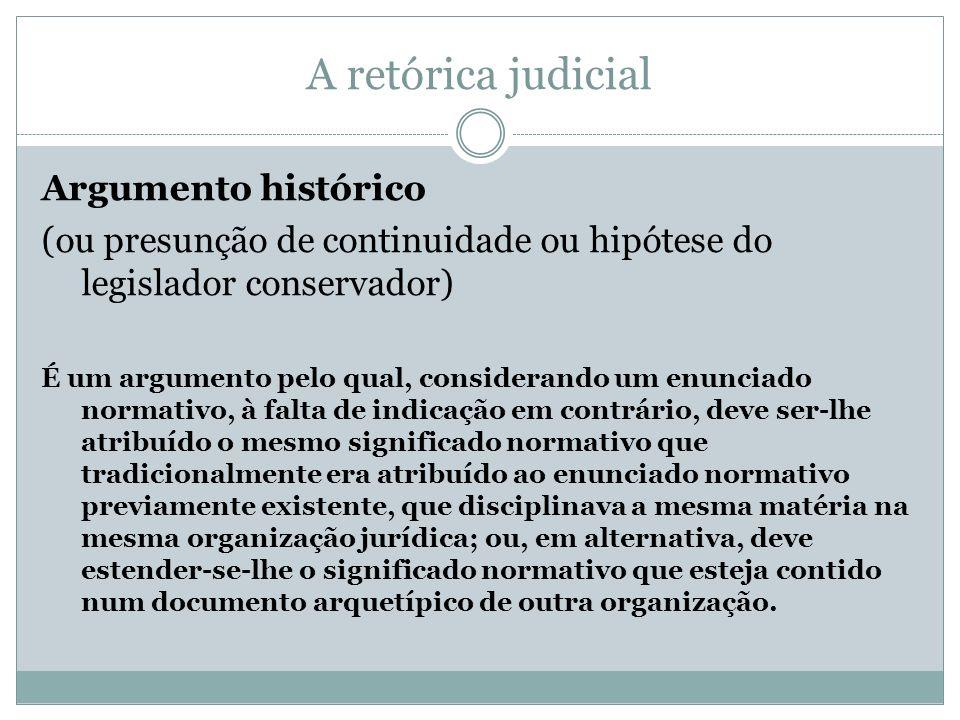 A retórica judicial Argumento histórico