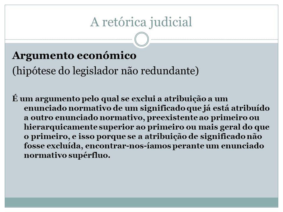 A retórica judicial Argumento económico