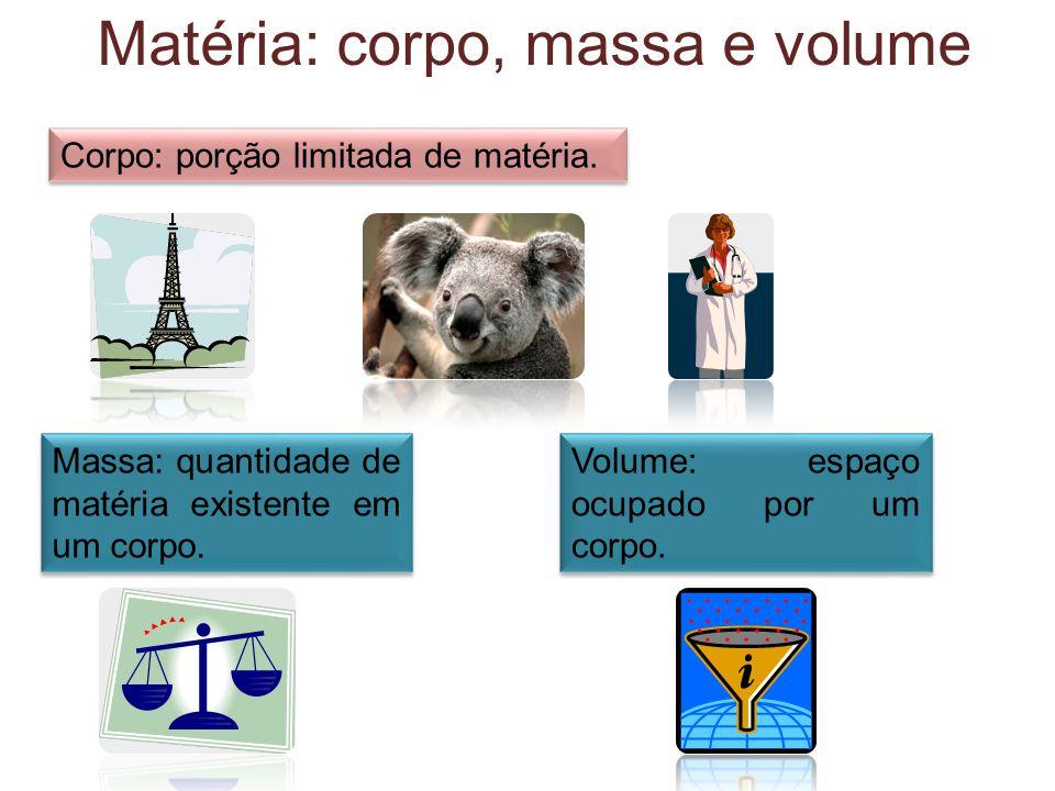 Matéria: corpo, massa e volume