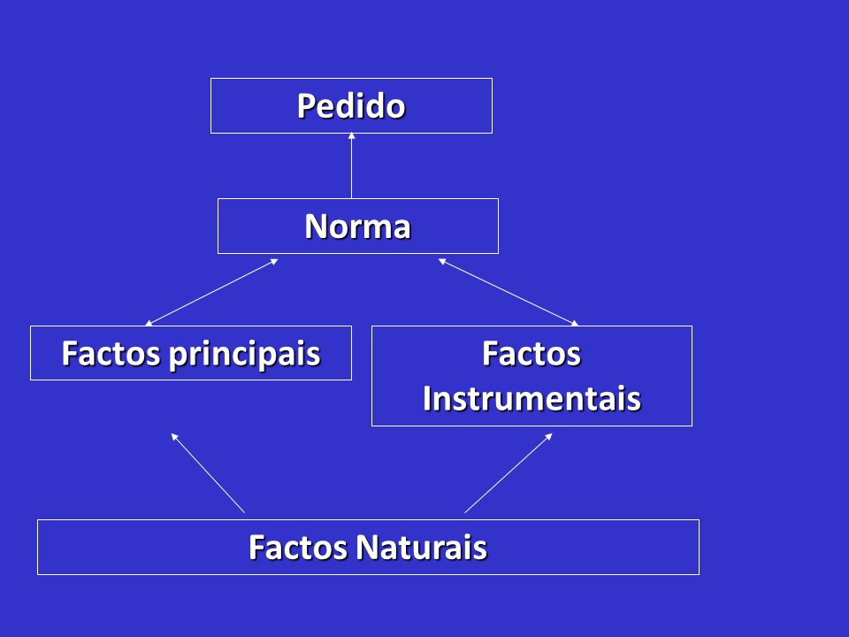 Pedido Norma Factos principais Factos Instrumentais Factos Naturais