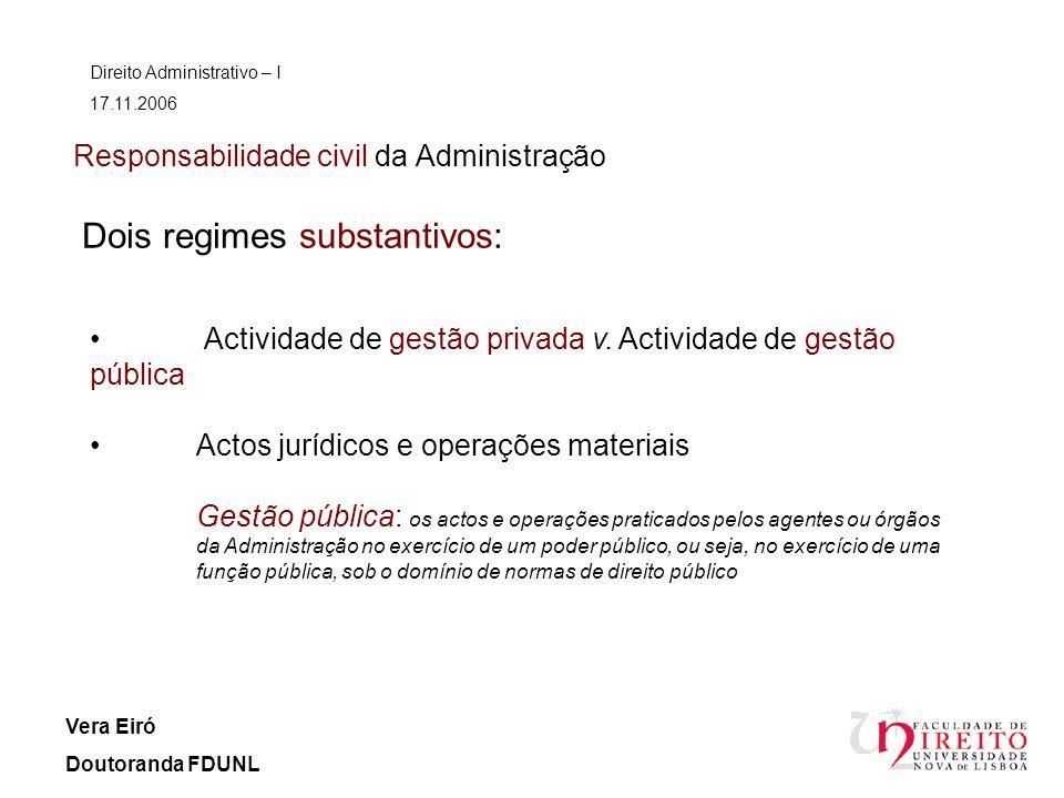 Responsabilidade civil da Administração