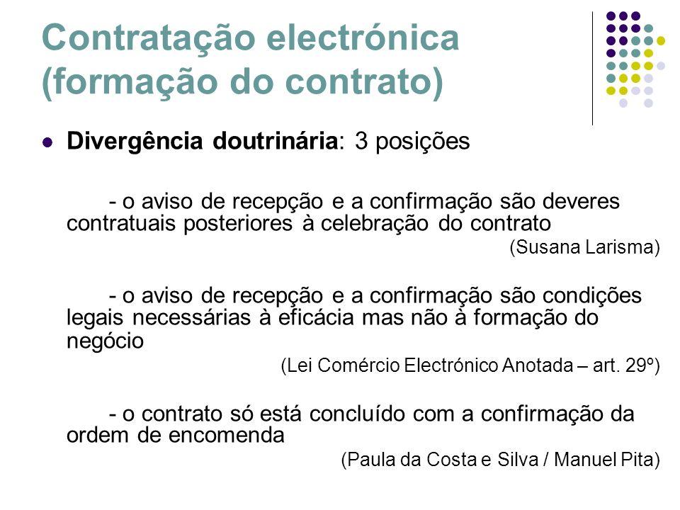 Contratação electrónica (formação do contrato)