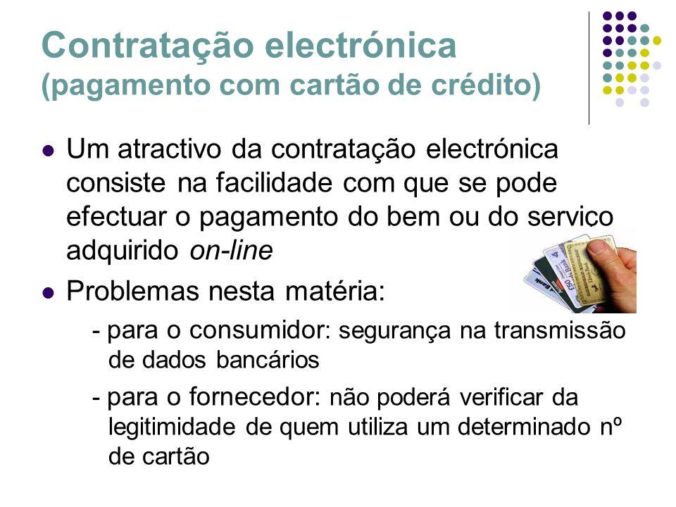 Contratação electrónica (pagamento com cartão de crédito)