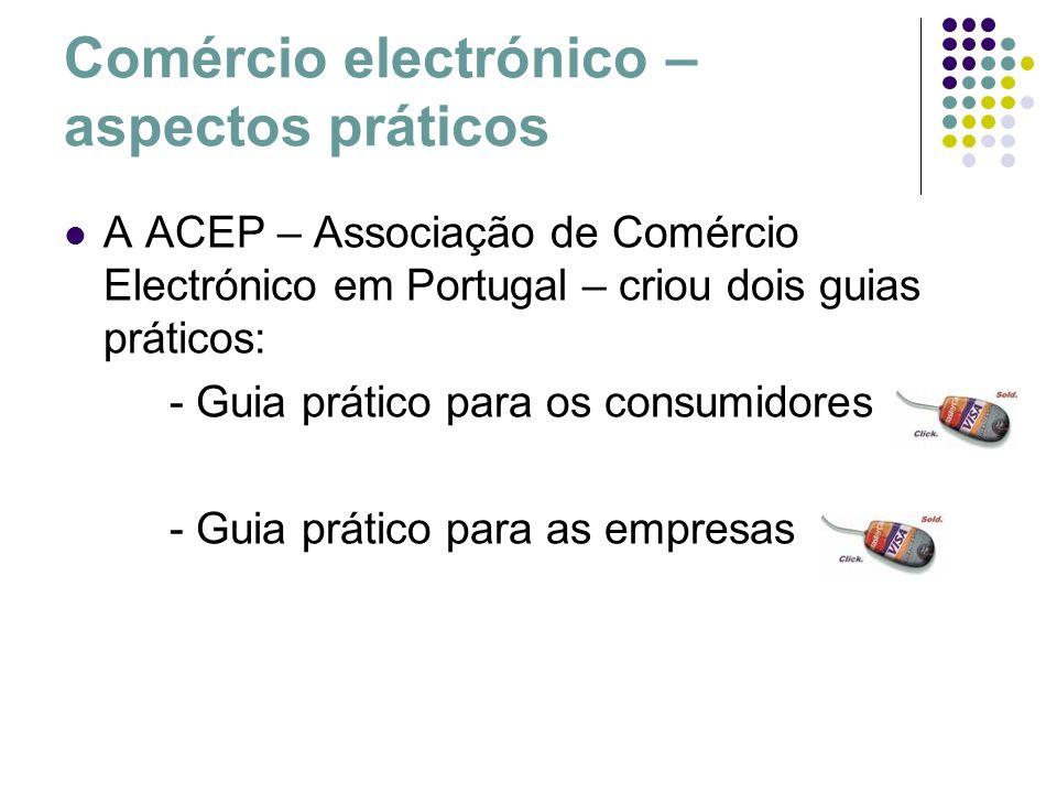 Comércio electrónico – aspectos práticos