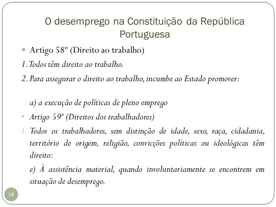 O desemprego na Constituição da República Portuguesa