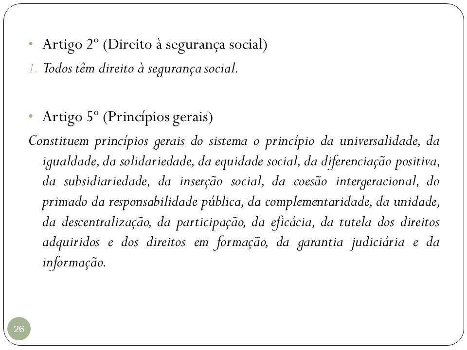 Artigo 2º (Direito à segurança social)