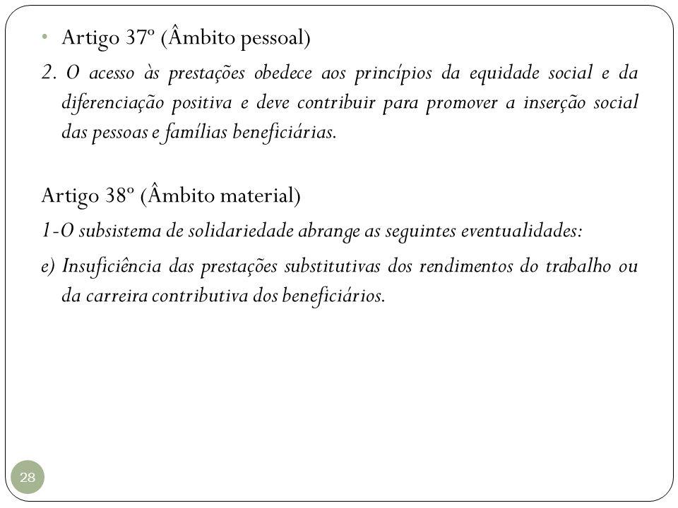 Artigo 37º (Âmbito pessoal)