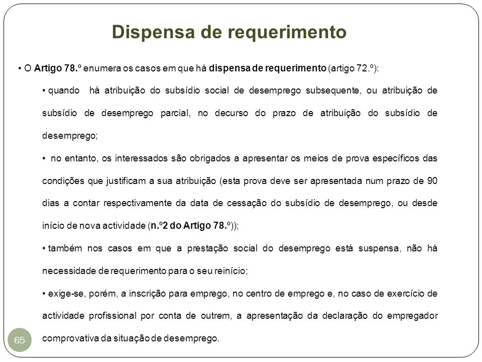 Dispensa de requerimento