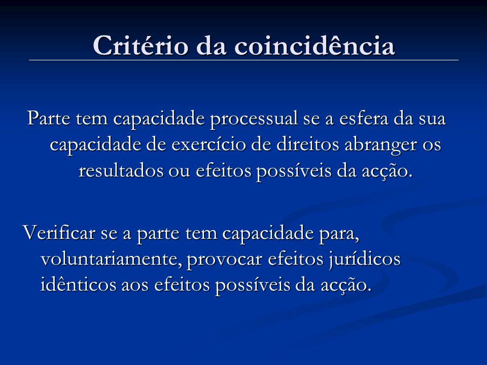 Critério da coincidência