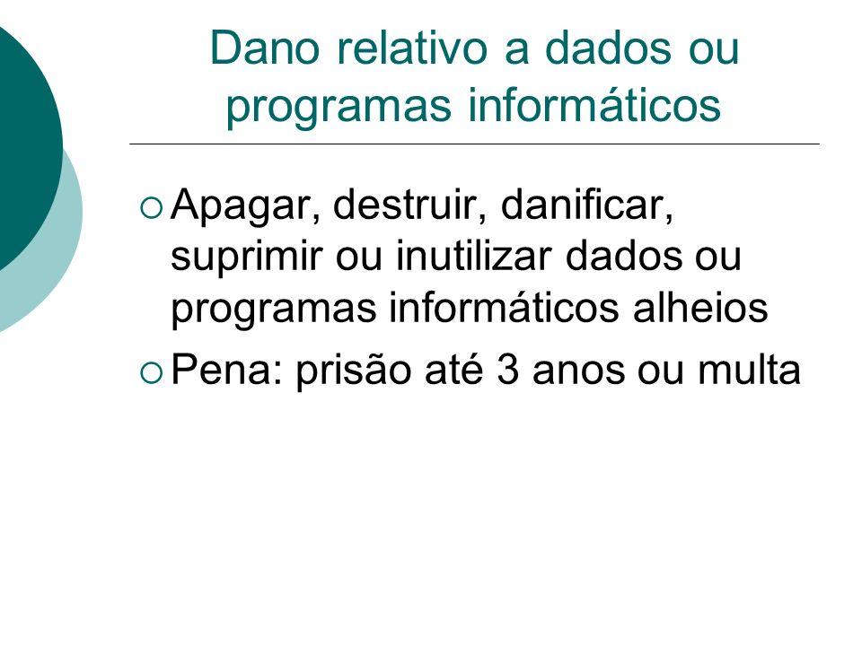 Dano relativo a dados ou programas informáticos