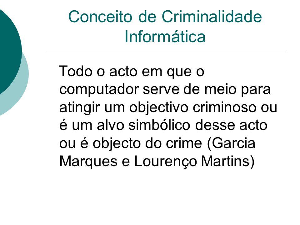 Conceito de Criminalidade Informática
