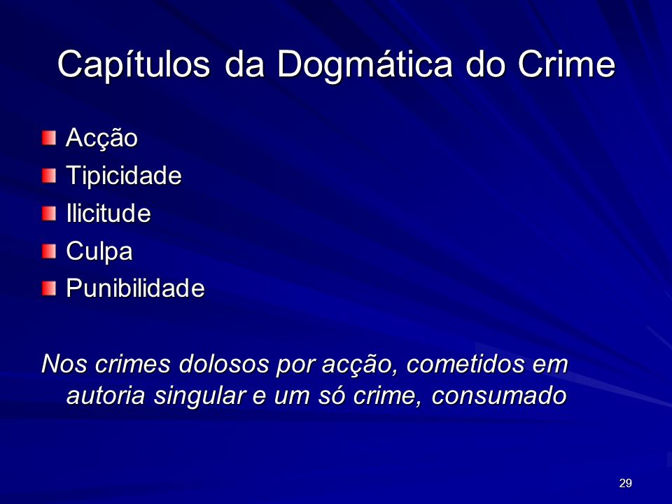 Capítulos da Dogmática do Crime
