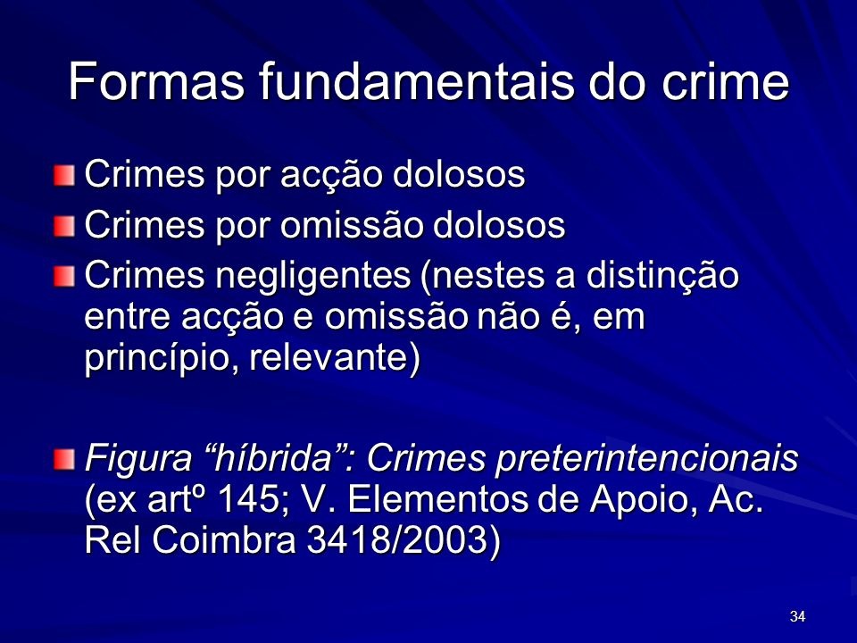 Formas fundamentais do crime